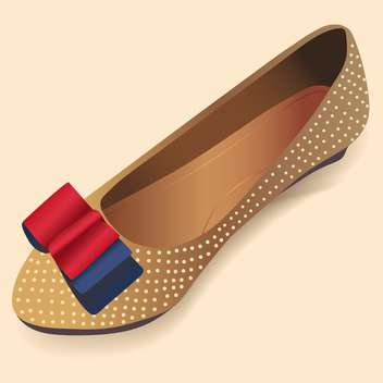 vector illustration of ballerina shoe on beige background - Free vector #127727
