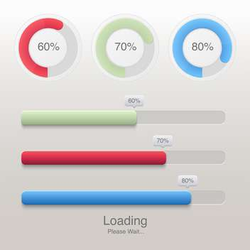 vector collection of modern preloaders and progress loading bars - бесплатный vector #127777