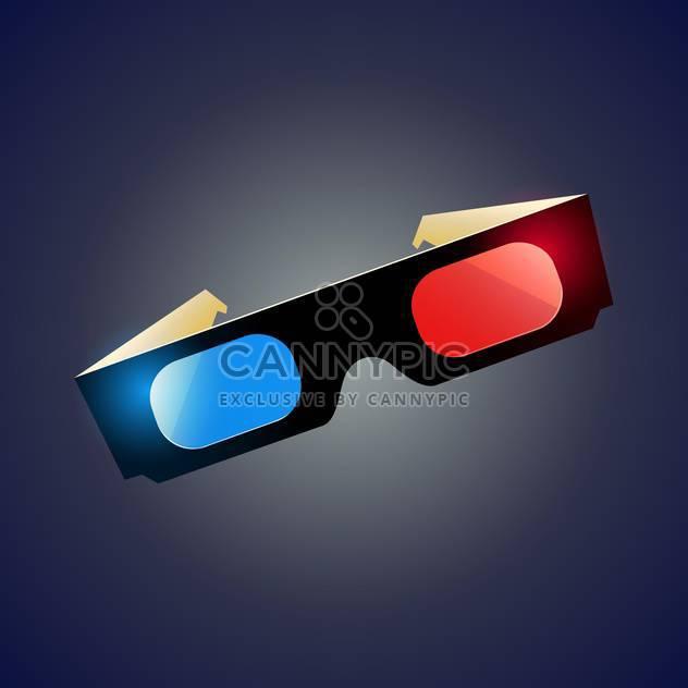 Vektor-Illustration Kino Brille auf Lila Hintergrund - Kostenloses vector #127897