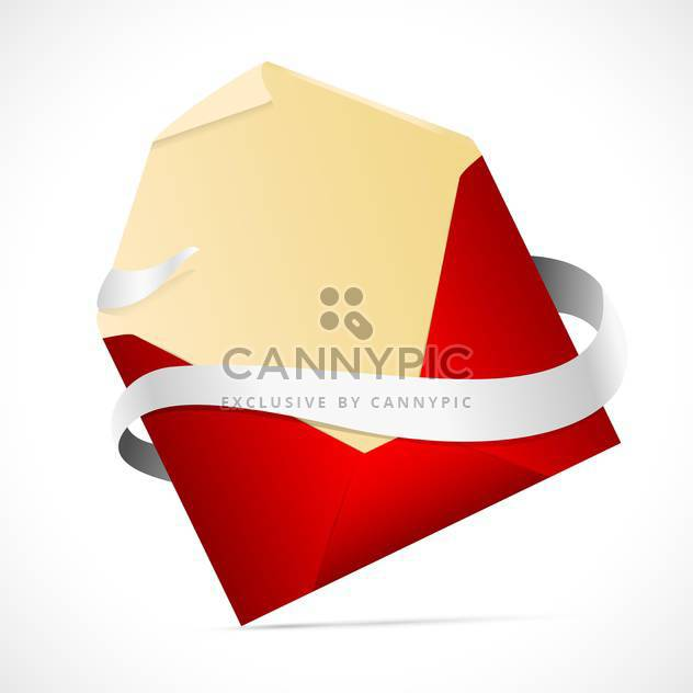 vector illustration of red envelope on white background - Free vector #127907