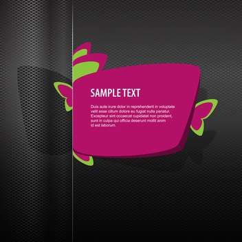 Vector pink banner for web design on dark background - vector #127947 gratis