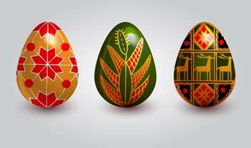 holiday background with easter eggs - vector gratuit #128057