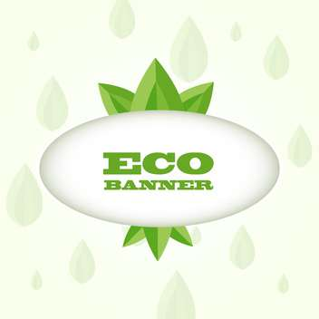 vector illustration of green eco banner on white background - vector gratuit #128077