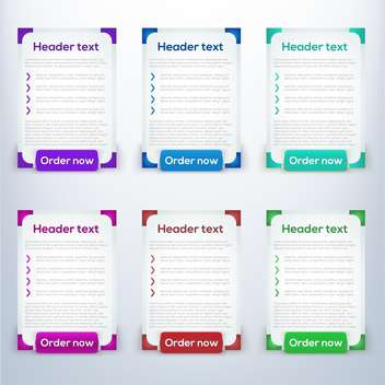 Vector web banner set - Free vector #128127