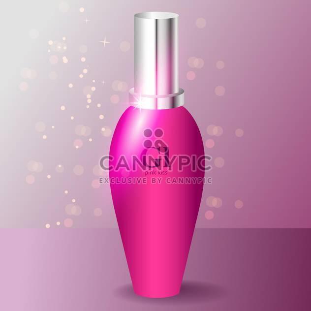 Rosa Parfüm-Flasche-Vektor-Symbol - Kostenloses vector #128147