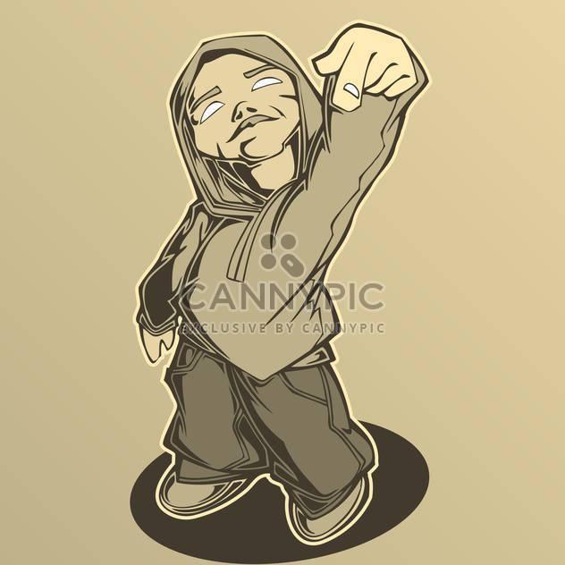 Hip hop man, vector illustration. - Free vector #128207