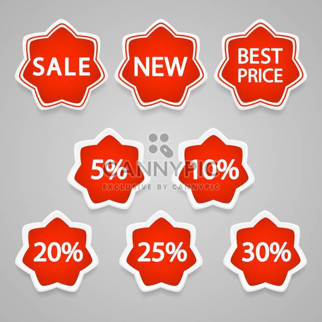 Set with vector sale stickers and labels icons - Free vector #128217