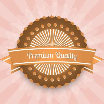 Premium quality label vector icon - Free vector #128227