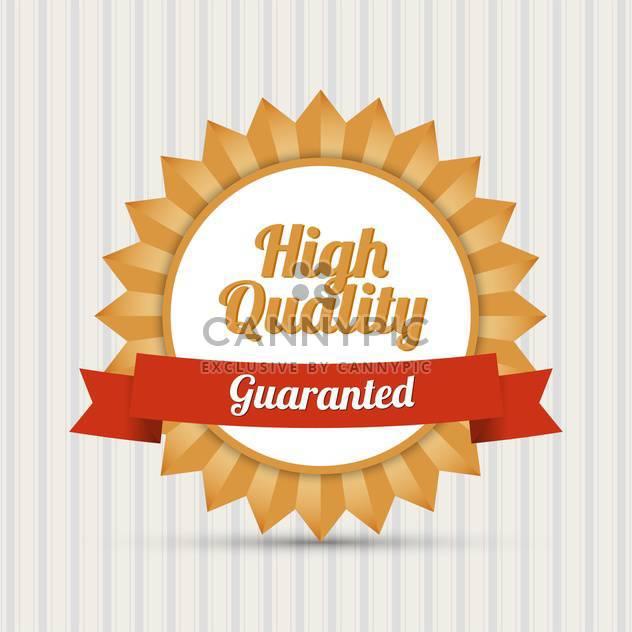 Jahrgang qualitativ hochwertige Vektor-Etikett - Kostenloses vector #128307