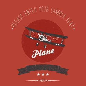 vintage biplane vector card - Kostenloses vector #128347