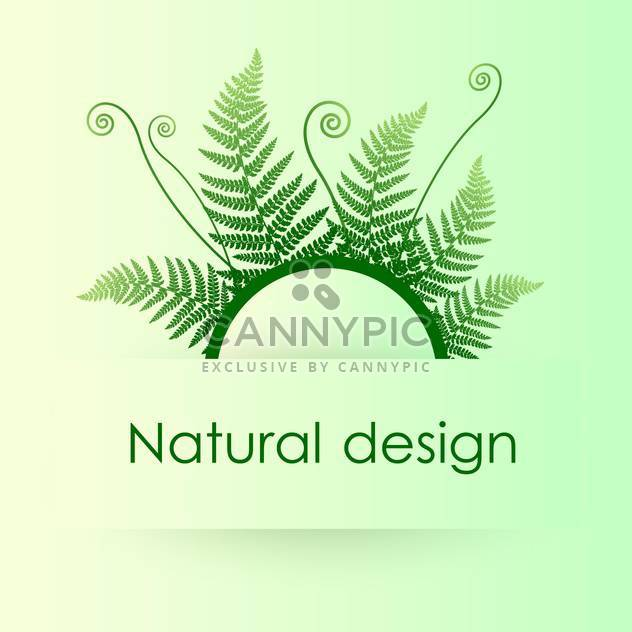 Vector green background with fern leafs - Free vector #128417