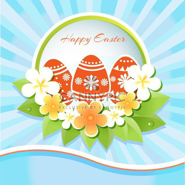 Vector Illustration of Happy Easter Card - Free vector #128517