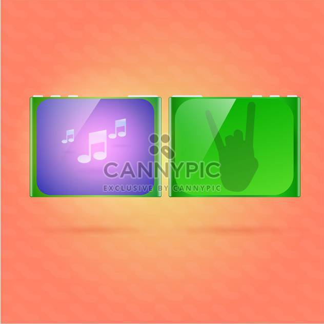 Music player vector illustration - Free vector #128567