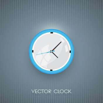 Vector wall clock icon on grey background - vector gratuit #128587