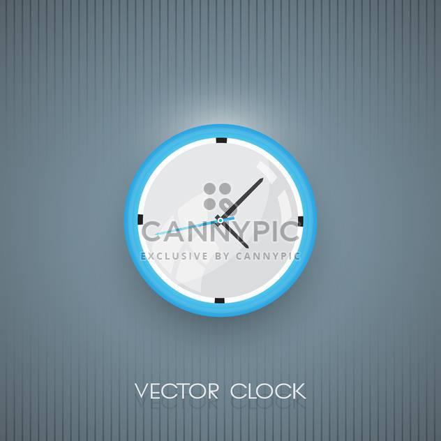 Vektor-Wand-Uhr-Symbol auf grauen Hintergrund - Kostenloses vector #128587