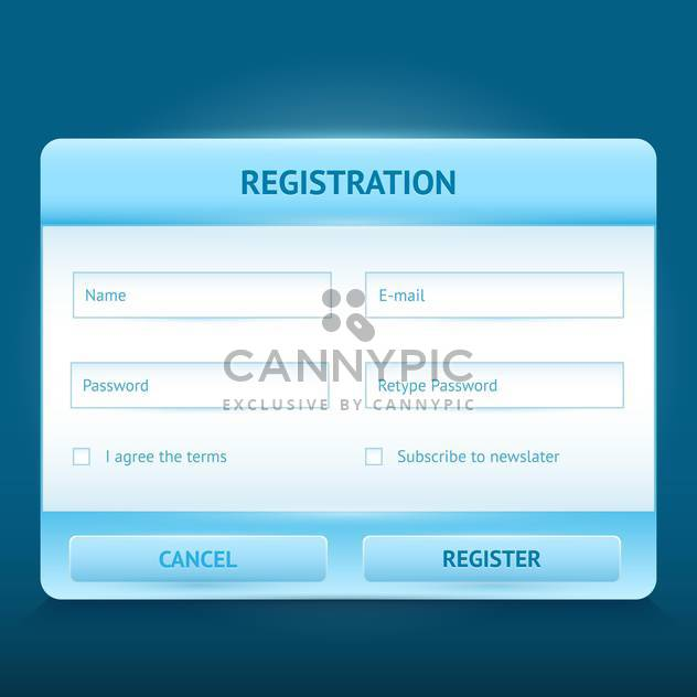 Vector login and register glossy web form - Free vector #128607