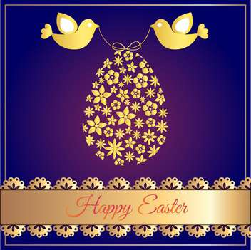 Vector illustration of Happy Easter Card - Kostenloses vector #128627