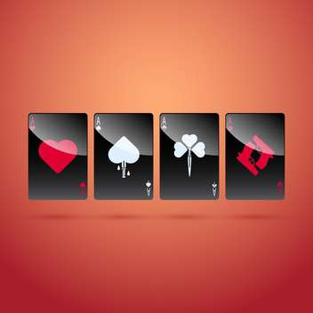 Vector illustration of glass poker aces - Free vector #128647
