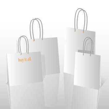 Vector Illustration of Shopping Bags with Copy Space - Kostenloses vector #128677