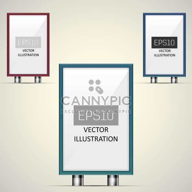 Vektor-Illustration von klaren Plakatwände mit textfreiraum - Kostenloses vector #128697