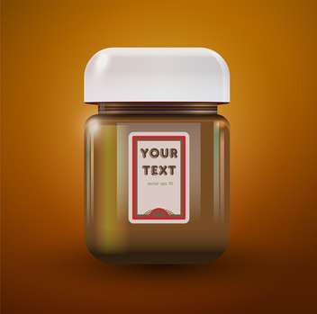 Vector illustration of a jar of peanut butter - Free vector #128717