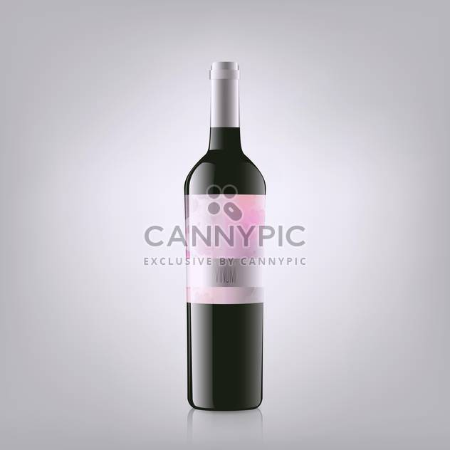 Vector illustration of red wine bottle - Free vector #128737