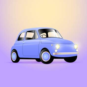 Vintage classic car vector illustration - Free vector #128837