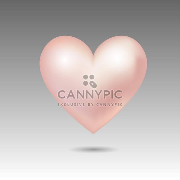 Vector illustration of pink glossy heart - Free vector #128847