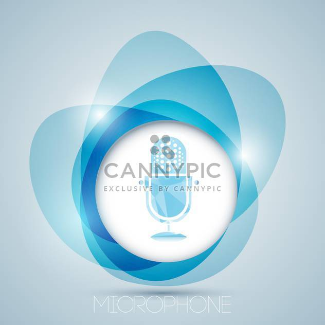 Vektor Icon mit blau Jahrgang Mikrofon - Kostenloses vector #128887