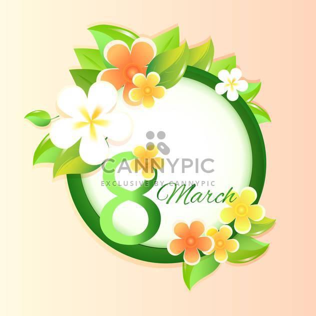 Damen Tag Grußkarte mit Blumen - Kostenloses vector #128967