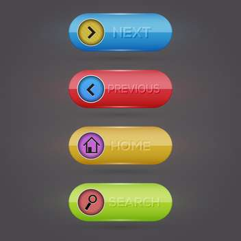 web vector buttons set - бесплатный vector #128997