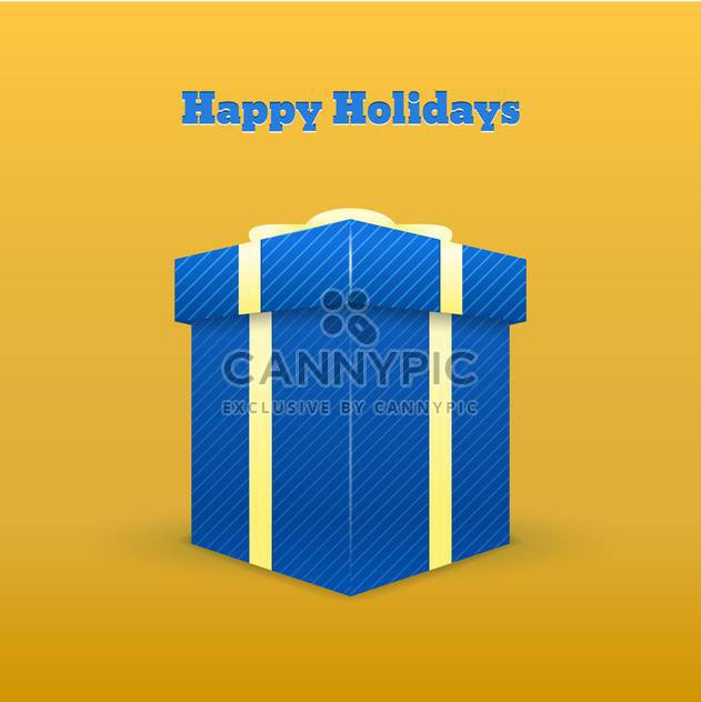 happy holidays greeting card - Free vector #129047