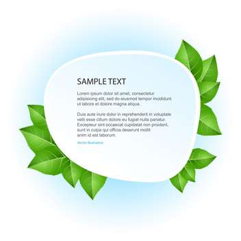eco banner with green leaves - vector gratuit #129067