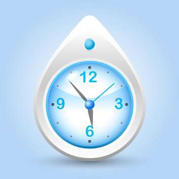 clock button for vector website - Free vector #129077