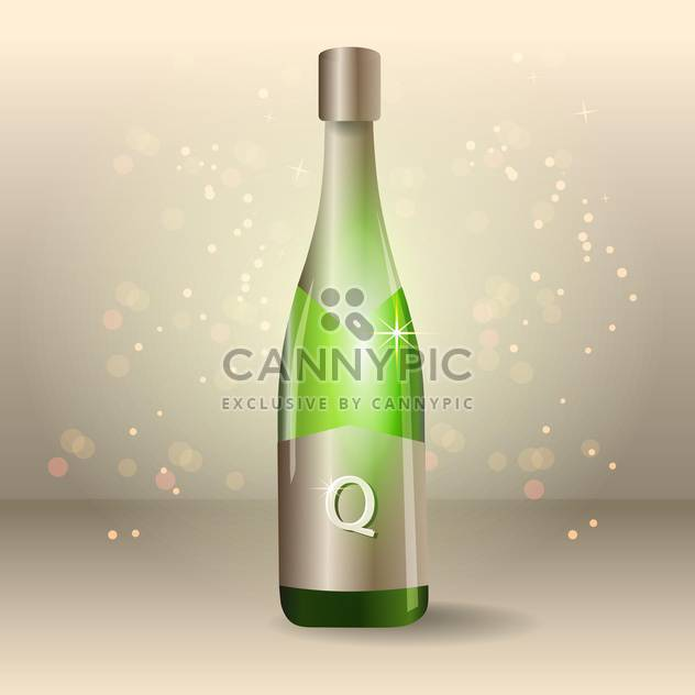 bottle of vector champagne illustration - Free vector #129087