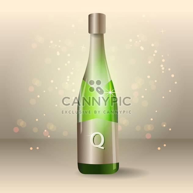Flasche Champagner Vektor-illustration - Kostenloses vector #129087