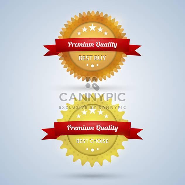 vector premium quality badges - Free vector #129107