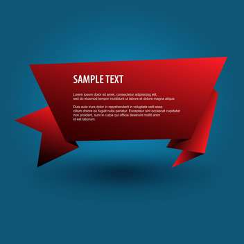 red origami banner background - бесплатный vector #129187