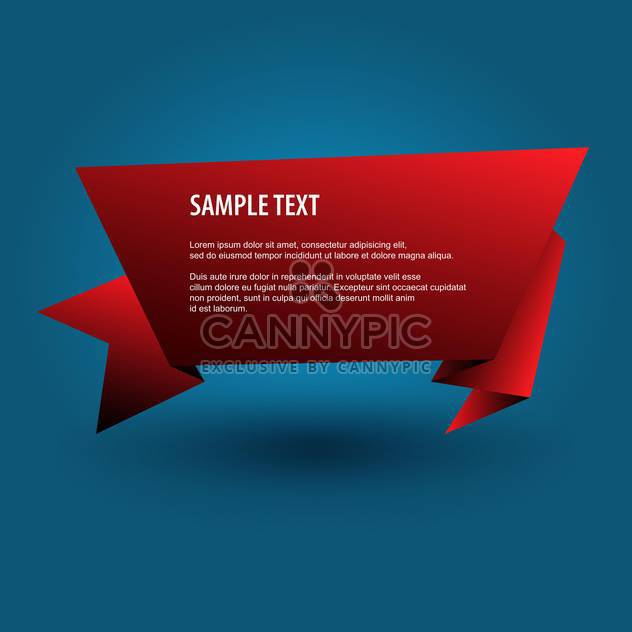 red origami banner background - Free vector #129187
