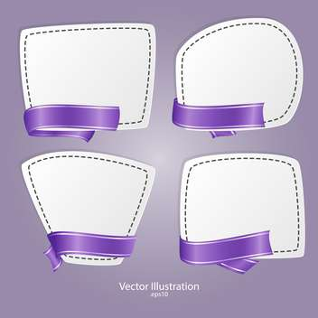 vector set of banners with ribbons - Free vector #129197