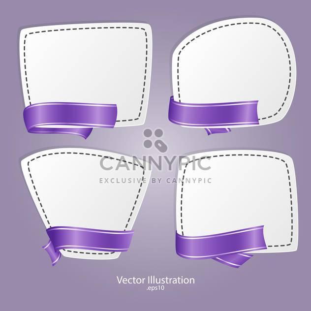 Vektor-Reihe von Bannern mit Bändern - Free vector #129197