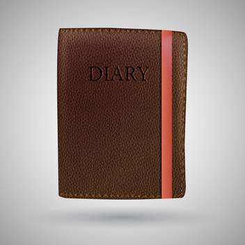 leather diary book illustration - vector #129217 gratis