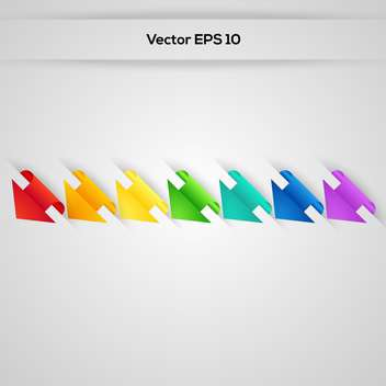 set of vector paper stickers arrows - vector gratuit #129237