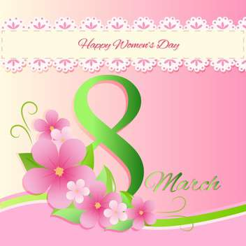 women's day vector greeting card - бесплатный vector #129247