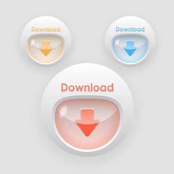 download arrow colorful buttons - vector gratuit #129257