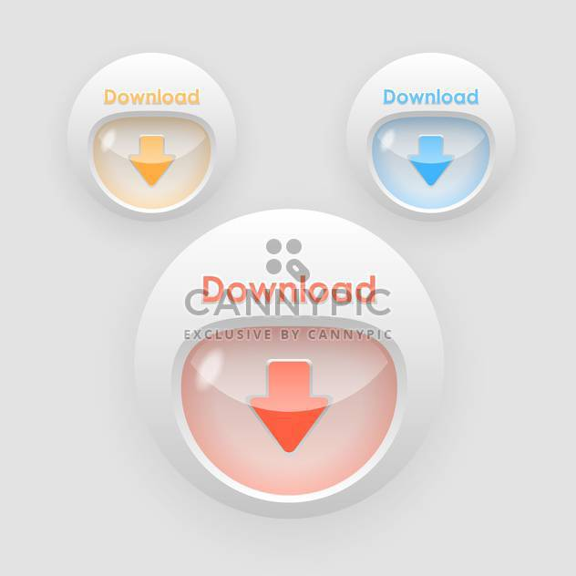 download arrow colorful buttons - Free vector #129257