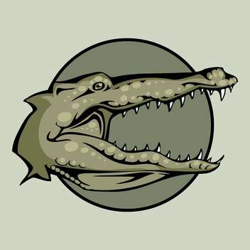 angry crocodile vector head - бесплатный vector #129267