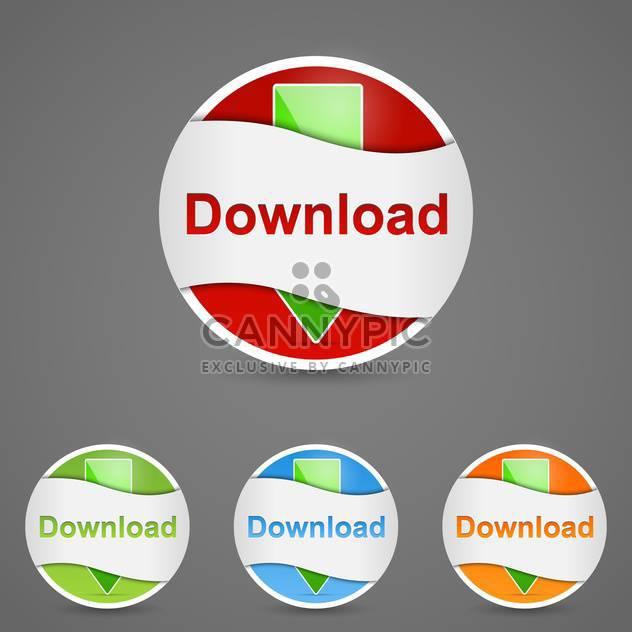 Vektor-Satz Download Button auf grauem Hintergrund - Kostenloses vector #129357