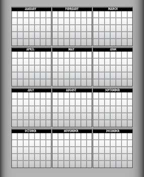 Vector illustration of gray calendar - Free vector #129437