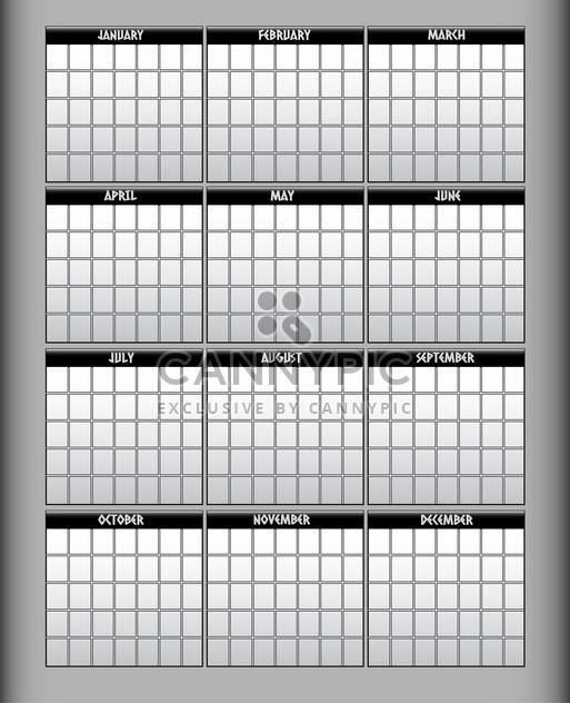 Vektor-Illustration des grauen Kalender - Kostenloses vector #129437